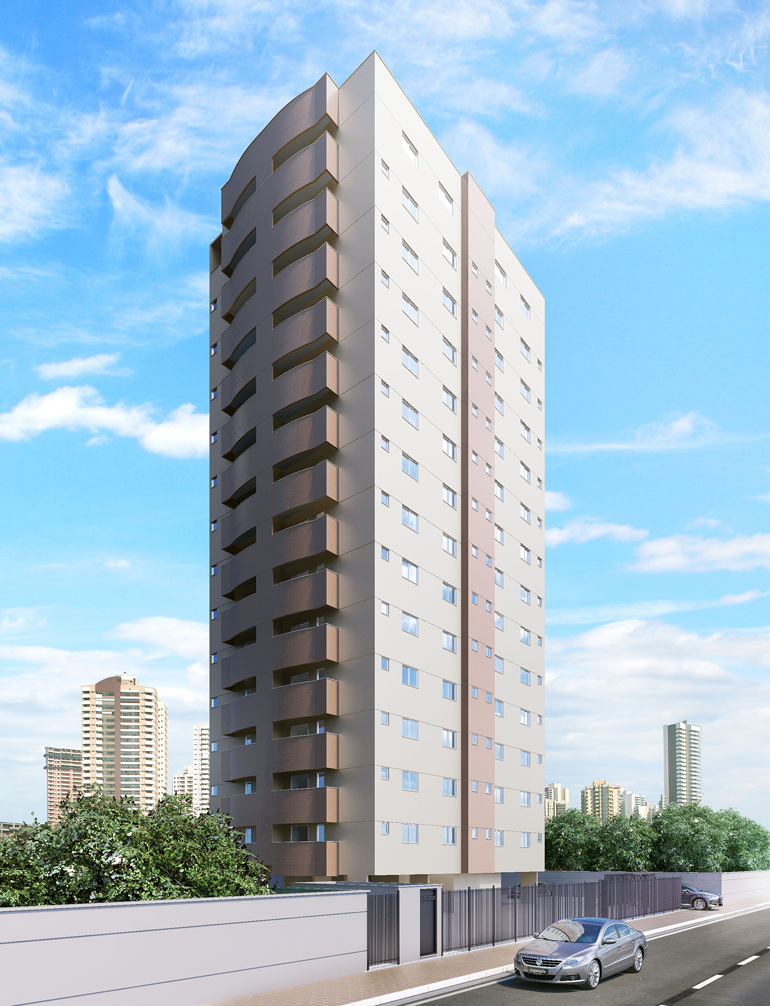 Perspectiva 3D - Edifício Residencial